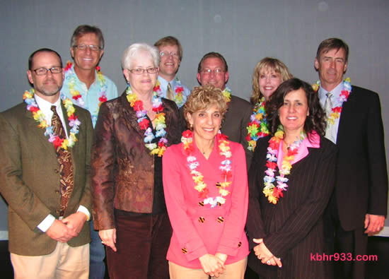 Lighthouse VIPs included the BVUSD Board of Trustees, here with Tyler Durman, Supervisor Derry, Lighthouse Director Beth Gardner, and Mayor Rick Herrick. From left: Randy Putz, Durman, Bev Grabe, Paul Zamoyta, Derry, Gardner, Herrick and (in front) Superintendent Carole Ferraud and Debra Sarkisian.