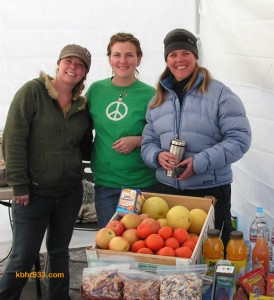 Amanda and Angela of Amangela's cafe in Fawnskin and Susie Lerma of Sol Food Market provided healthy breakfast fare for the competitors.