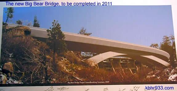 CalTrans provided this artist's rendering of the future Big Bear Bridge.
