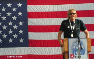 Olympian Ryan Hall at the August 4 Community Send-Off