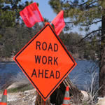 Maintenance Work on State Route 330 with Flagging for Two Weeks