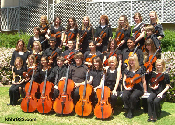 The middle school and elementary students of the Steven G. Mihaylo Concert Orchestra