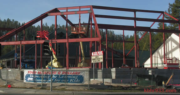 """Under Construction"": Big Bear Middle School, on the Boulevard at Georgia"