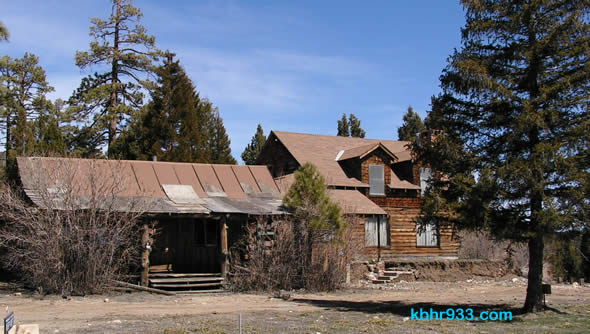 "The li'l cabin on the left once housed a general store and post office. Now in Big Bear City, it will be the ""new"" gift shop building at the historical museum."