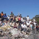 A group atop Gold Mountain during the 2008 series of the Seven Summimts of Big Bear.