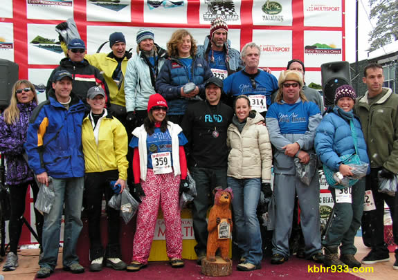 These athletes competed in the first Conquer the Bear challenge, which was the 10K snowshoe race in February. The overall winners in snowshoeing, biking, paddling and running events will earn the Conquer the Bear title.