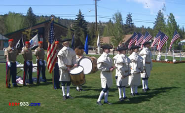 The Marine Corps League Color Guard was joined by Mountain Fifes and Drums at last year's ceremony.