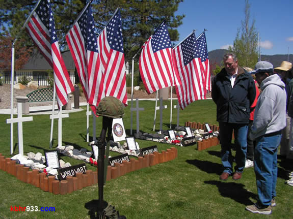 Military personnel from all U.S. wars will be recognized in Monday's Memorial Day ceremony.