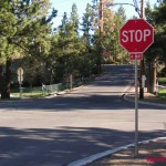 New Stop Signs Installed at Busy Intersection of Eureka and Park Avenues in Big Bear Lake