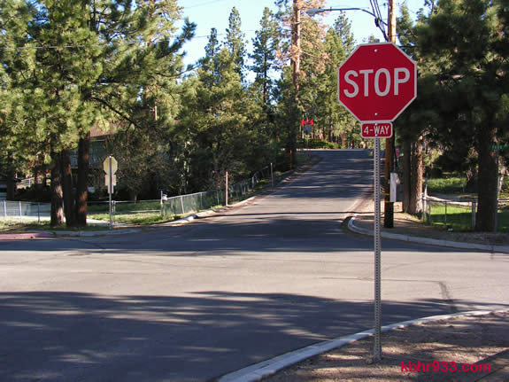 The intersection of Eureka and Park Avenues in Big Bear Lake is now a four-way stop.