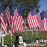 Veterans Park during the Memorial Day holiday