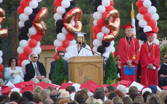 Valedictorian Amanda Fisch was one of three for this year's senior class.