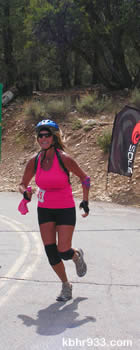 As she approached the finish line, Diane Bradley was cheering with her completion of her fourth event--then there were ropes.