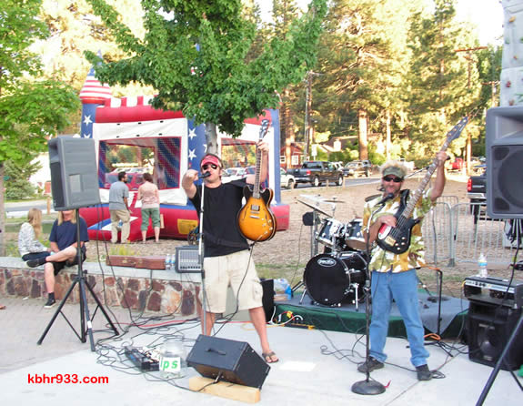 The Jory Lyle Trio (including Jory Lyle, Terry Copley and Steve Boggio on drums) was one of three bands performing in the Village last Friday, for the inaugural Friday Nights in the Village.