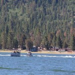 Crews at work this morning in the 9am hour, to retrieve the body from Big Bear Lake.