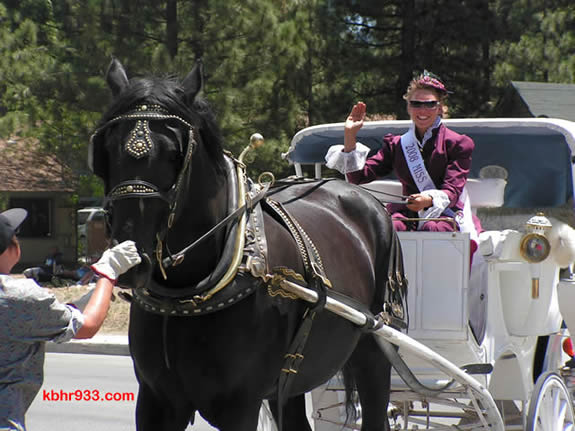 Miss Clementine Keli Homan in the 2008 Old Miners' Days Parade; this year's parade is on Sunday, August 2 at 12:30pm.