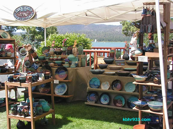 Art on the Lake showcases the work of local artists (including George and Terry Carver's pottery) and others from throughout Southern California.