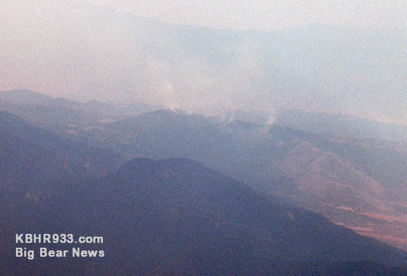 Oak Glen Fire as of 3:00 PM on 8-31-09