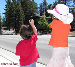 Big Bear Boulevard was lined with old miners and young folk alike, enjoying the parade in the summer sun.