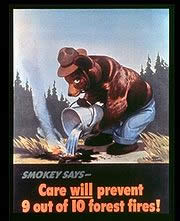 Smokey's first poster, released in 1944.