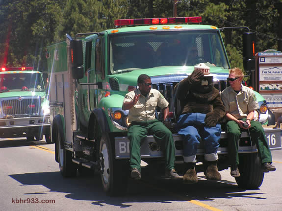 Smokey Bear spent his last weekend as a 64-year-old in Sunday's Old Miners' Days Parade with the U.S. Forest Service.