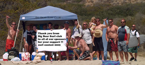 Mountain folk hit the beach, in this photo provided by the Big Bear Surf Club, from their August 8 event.