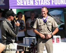 CHP officer (like Jared's dad Joe) Tyler Lewis ran the 5K in full uniform. Another notable finish in the 5K: retired Marine Jack Wands, a 77-year-old resident of Big Bear City, completed the race in less than an hour.