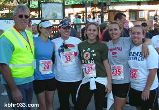 Landaker's family included Uncle Mark Clifton, who co-organized the event, Aunt Cindy (third from left, winner in her 5K division), and cousins, who handed out awards after the race.
