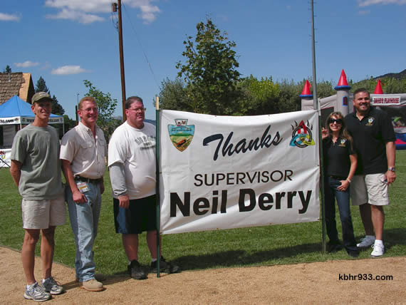 Officials present for the kick-off included CSD Directors John Day, Marge McDonald and Barbara Beck and (pictured, from left) the County's Jeff Rigney, Supervisor Neil Derry, Rec & Park's Reese Troublefield, and from Derry's office, Jamie Garland and Steven Hauer.