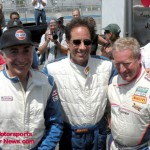 Sam Cabiglio, Jerry Seinfield, Hurley Haywood at the 2009 Rolex Historic Races in Monterey