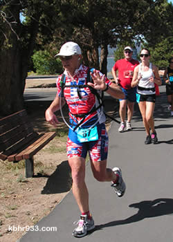 Taking on the running challenge was new for Steve Kinney, a professional mountain biker.