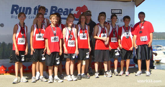 The seventh and eighth grade runners on the BBMS cross-country team also made a big showing at this month's Run the Bear Marathon event, many of them running in the 5K.