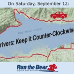 Traffic Alert for Saturday: Vehicle Traffic Directed Counter-Clockwise Around Lake to Accommodate Run the Bear Event