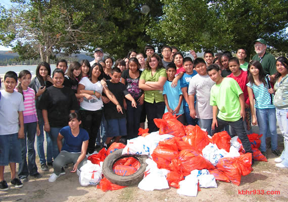 Ray Wiltsey Middle School of Ontario returned to assist in another Big Bear Lake shoreline cleanup, this year bringing 88 seventh and eighth grade students!