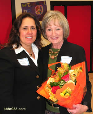 School Board President Debra Sarkisian stressed that of the 27 candidates selected from a nationwide search, Dr. Nancy Wright (at right) was the unanimous choice to join BVUSD as new superintendent.