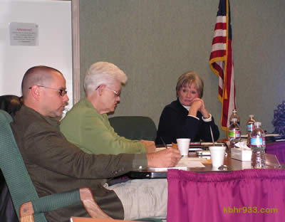 In November 2009, school board members Randall Putz and Beverly Grabe (pictured here with Superintendent Nancy Wright) and fellow trustees adopted the 24 budget cut recommendations of the Budget Advisory Committee; one of those recommendations was to increase class sizes at all grade levels.