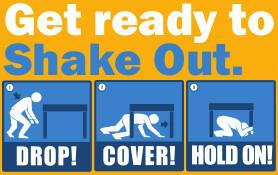 Annual California ShakeOut Drill Tomorrow at 10:20am