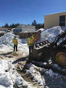 CAL FIRE Hand-Crews Clear Hydrants Buried by Winter Storms