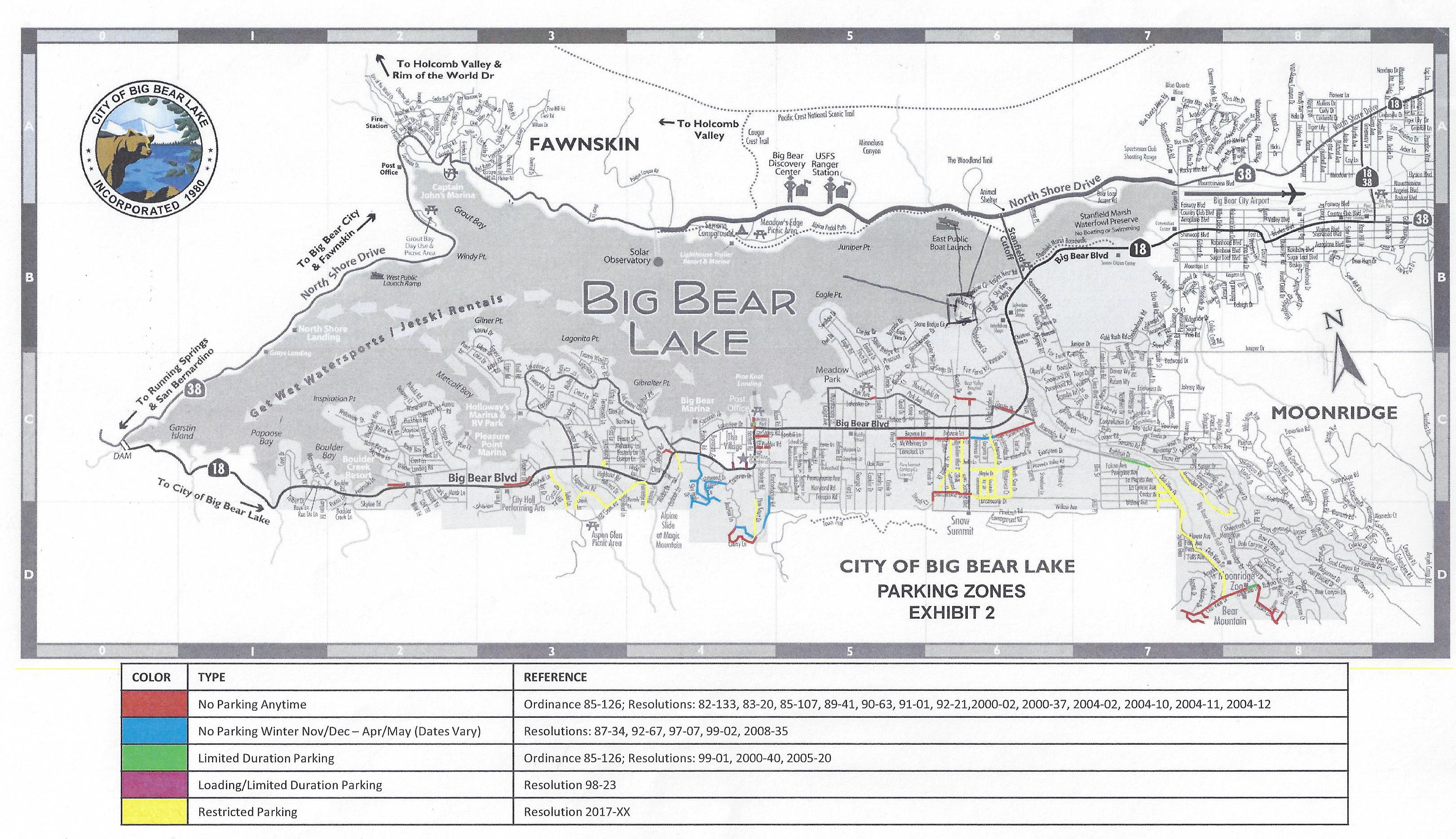 New Winter Parking Restrictions Near Big Bear Resorts