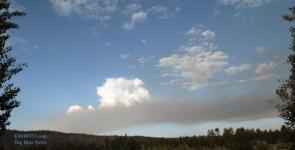 Lightening Strike Fire in Big Bear City