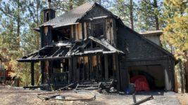 Fire Engulfs Big Bear City Home