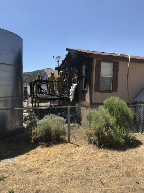 Residential Fire in Baldwin Lake Knocked Down Quickly