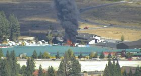 Fire at Storage Lot Consumes RV's, Trailers and Boat