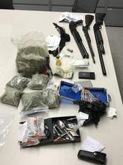 A Convicted Felon on Post Release Community Supervision Was Found in Possession of Firearms & Narcotics