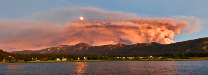 "Smoke from ""Apple Fire"" near Beaumont Is No Threat to Big Bear"