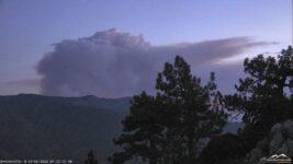 Fire in Yucaipa - Smoke Visible in Big Bear