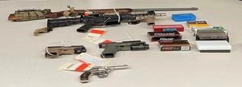 Convicted Felon Arrested for Weapons Violations and Narcotics