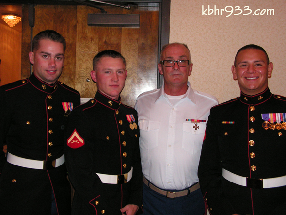 Active Duty Marines With Commandant Steve Schindler