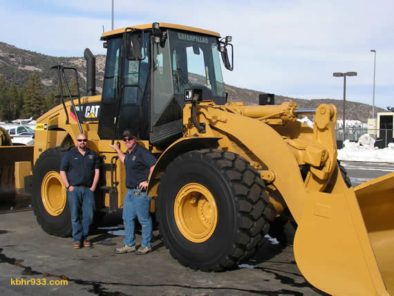 Airport staffers Ryan Goss and Tom Hoover, with help from new GM Pete Gwaltney, have plowed nearly 2,500 miles on the airport runway this season--and the runway is just over a mile long. The just-purchased CAT should help to make the snow plowing a two-hour, rather than two-day, project.
