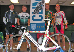 Connor McCutcheon, Louis Meintjes, Jos le Roux, Christiaan Kriek at Baldwin Lane Elementary School assembly